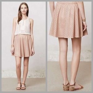 Anthropologie - Dusty Pink Astral Swing Skirt